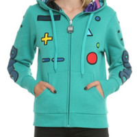 Adventure Time BMO Standby Girls Zip Hoodie