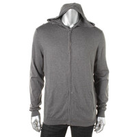 Calibrate Mens Silk Knit Hooded Sweater