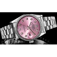 Rolex Pink Watch Women's fashion quartz watch Print Watch