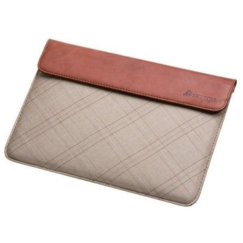 Leather and Plaid Sleeve for Apple iPad