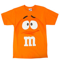 M&M's Candy Character Face T-Shirt - Youth - Orange - Small