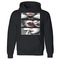 "Zexpa Apparelâ""¢ Blunt Roll Sexy Red Lips Unisex Hoodie Legalize Weed 420 Joint Hooded Sweatshirt"