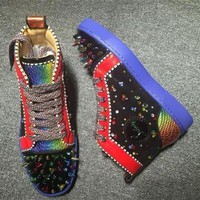DCCK Cl Christian Louboutin Pik Pik Style #1980 Sneakers Fashion Shoes