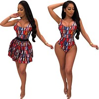 FENDI Bathing Suits One Piece Bikini Swimsuit Bodysuit+Skirt Two-Piece