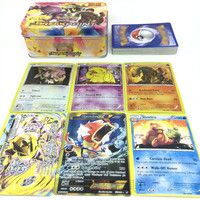 42pcs set Poke Cards Game Kids Toy English Anime Poke Card Toy For Children Gift Funny Toy News Gold Color Cards Gift Toys