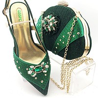 Newest Fashion Shoes And Bag Set For Party Design Shoes With Matching Bags Designer Shoe