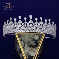 Stunning Full Zircon Clear Crystal Bridal Tiaras