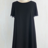 Short Length Short Sleeves Shift Adventures in Simplicity Dress by ModCloth