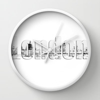 London Canvas Wall Clock by Karl Wilson Photography