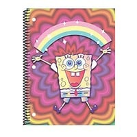 Nickelodeon SpongeBob Spiral Notebook 10 12 x 8 College Ruled 140 Pages 70 Sheets Rainbow - Office Depot