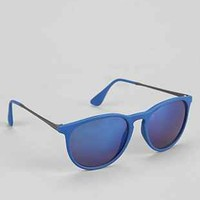 Classic Blue Flash Round Sunglasses - Urban Outfitters