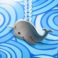 Handmade Gifts | Independent Design | Vintage Goods Narwhal Necklace - SL Exclusives