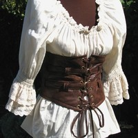 Lola Loves Leather STEAMPUNK, PIRATE, GOTHIC Extra Wide Waist Belt
