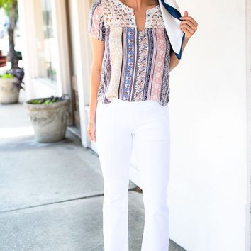 Bailey Ray Retro Pull Up Flare Jeggings