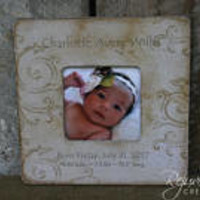 Personalized frames birth announcements keepsakes commemorate baby shower gifts new mom godparents grandparent gifts nursery decor