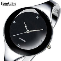 Solid Stainless Bangle Bracelet Women Watch
