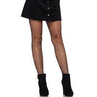 Black Gold Lurex Industrial Fishnet Stockings