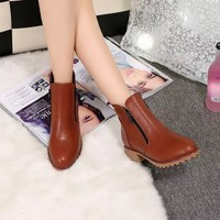 Autumn Shoes Stylish High Heel Dr Martens Boots [9432935562]