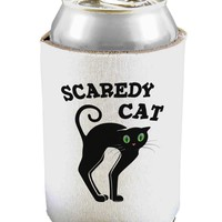 Cute Scaredy Cat Black Cat Halloween Can and Bottle Insulator Cooler