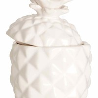 Candle in a ceramic holder