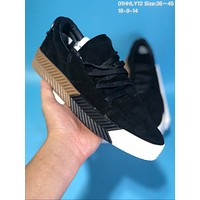 DCCK A280 Adidas x Alexander Wang Suede Thick Bottom Plate Shoes Black