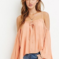 Drapey Open-Shoulder Blouse