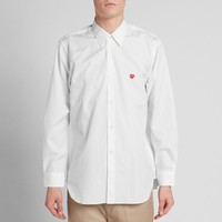 Comme des Garcons Play Little Red Heart Basic Shirt
