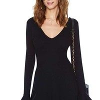 Nasty Gal Frilly Vanilli Dress - Black