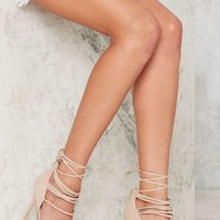 Nasty Gal Wrap in the Face Heels