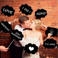 Speech Bubble Chalkboard Photobooth Props with Chalk Set of 9 Speech Bubble Props Chalk Board Props Set of 9 Wedding Decoration