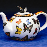 Butterfly Collectible Teapot