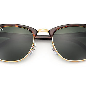 Ray-Ban CLUBMASTER CLASSIC RB3016 Tortoise - Acetate - Green Lenses - 0RB3016W036649 | Ray-Ban® USA