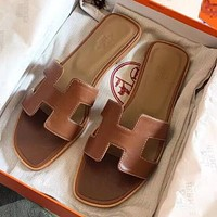 Hermes fashion new all-match flat sandals and slippers