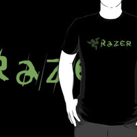 Razer Game Gear logo black t-shirt