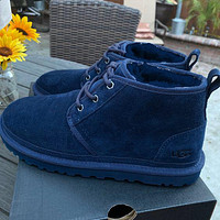 UGG hot-selling snow lace-up Martin boots fashion simple hand-sewn non-slip high-top boots fashion men and women Shoes Dark Blue