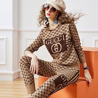 GUCCI Woman Cardigan Jacket Coat Pants Trousers Set Two Piece