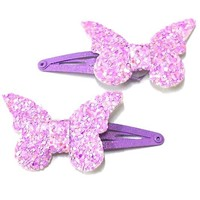 Glitter Butterfly Effect Hair Clips