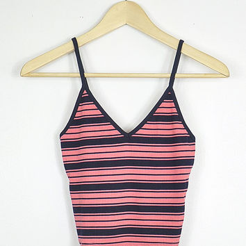 Pink/Navy Striped Cami