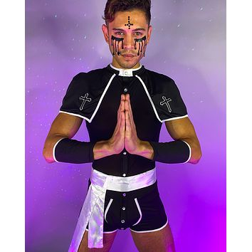 3pc Sinful Confessions Priest Costume