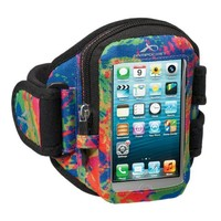 Armpocket® Aero i-10 armband for iPhone 5s/5c/4 or similar phones and cases up to 5 inches. Splash, Medium Strap Length