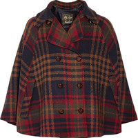 Love Moschino Checked wool-tweed cape – 50% at THE OUTNET.COM