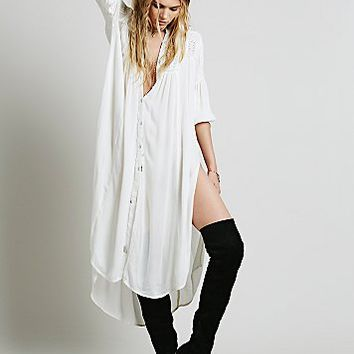 Free People Womens Drippy Crochet Inset Maxi