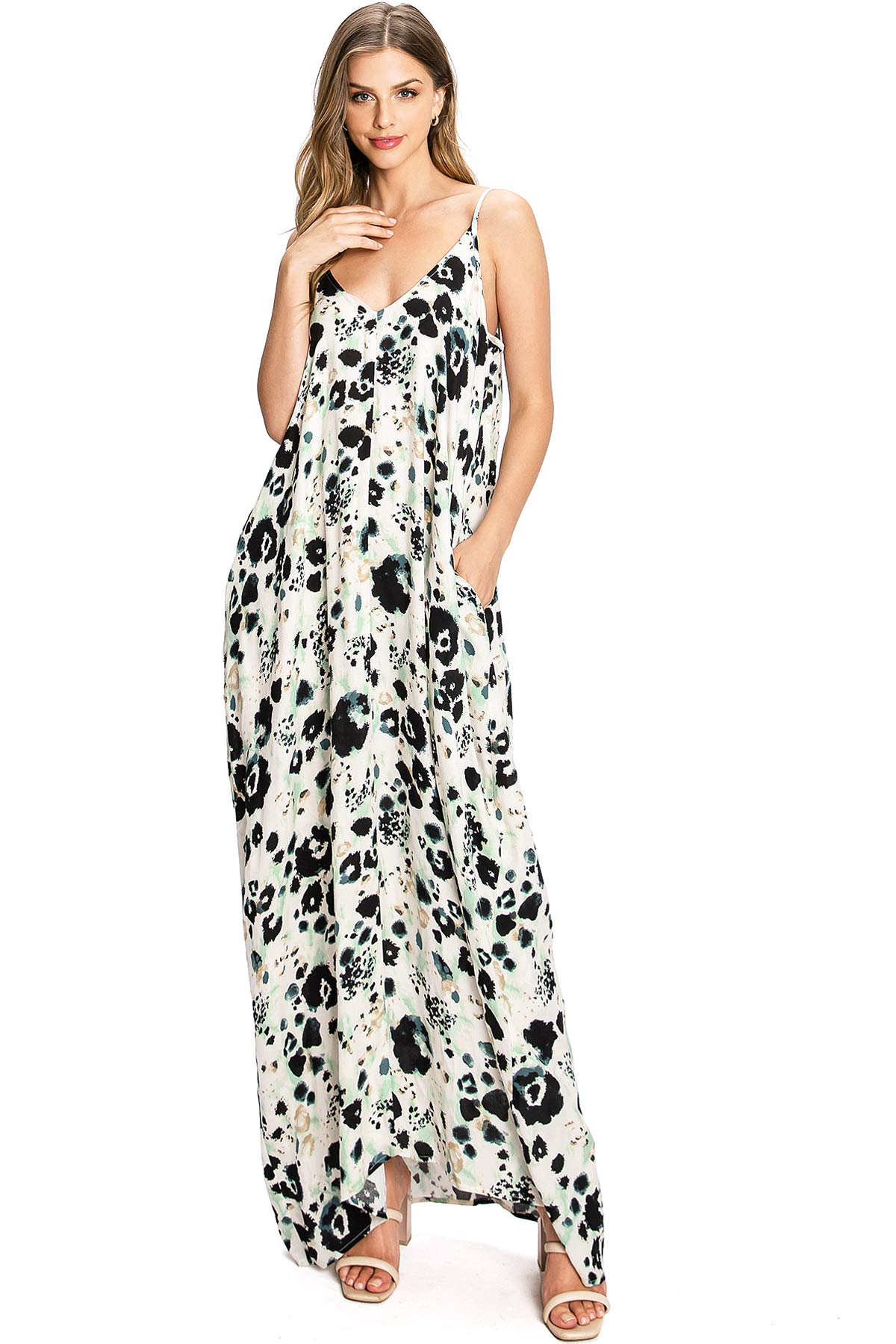 Image of Spotted Maxi Dress