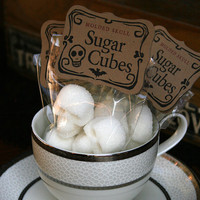 Sugar Cubes  6 Bags of Four Skulls by dembones on Etsy
