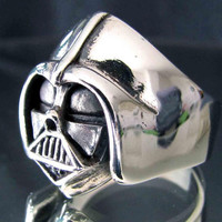 Silver DARTH VADER RING Star Wars Jewelry Anakin Skywalker - Custom Fitted Sizes