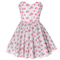 Style Icon's Closet 50s style Vintage Inspired Pin-Up African Print Retro Rockabilly Clothing — Vintage Inspired Floral Prom dress