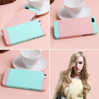 [gryxh3100053]two color pink blue mix impact case for iphone5