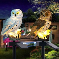 Creative  Owl Pattern Solar LED Floor Lamp