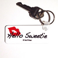 River Song 11th Doctor Keychain: Hello Sweetie