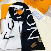 Supergirls22 LV Louis Vuitton Women Autumn And Winter High Quality New Fashion Letter Print Warm Scarf